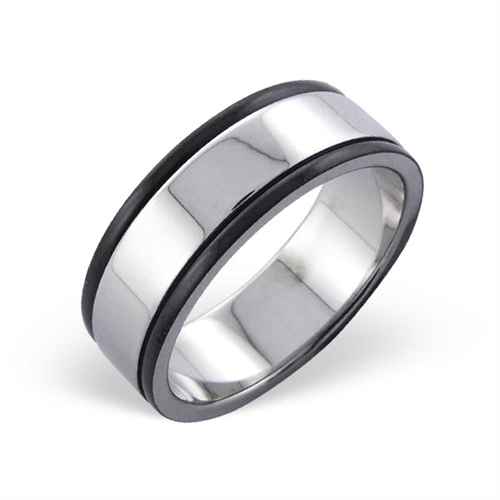 Surgical Steel Two Tone Band