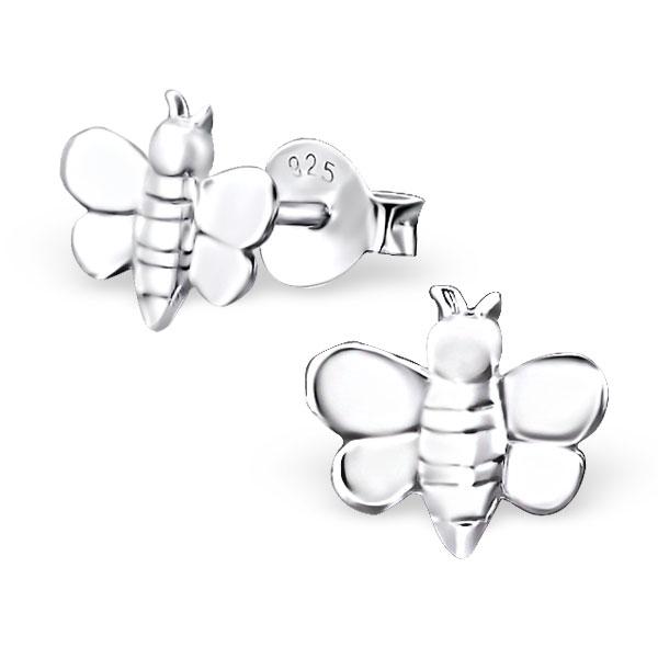 f0d66b604 Sterling Silver Honey Bee Studs - Jewellery-Earrings : Mariposa ...