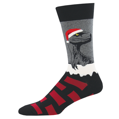 Raptor Claus Socks