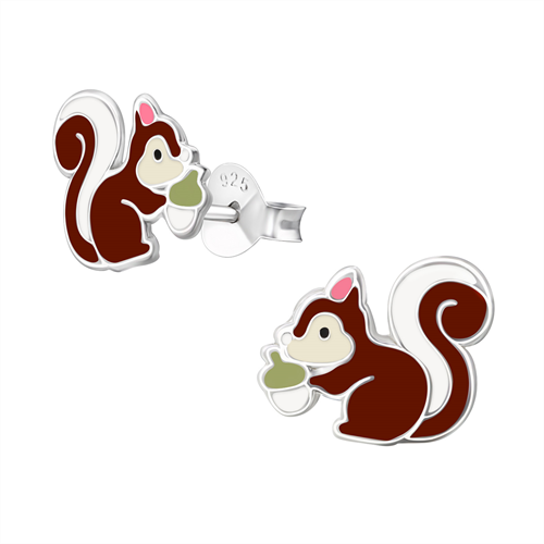 Sterling Silver Squirrel Studs