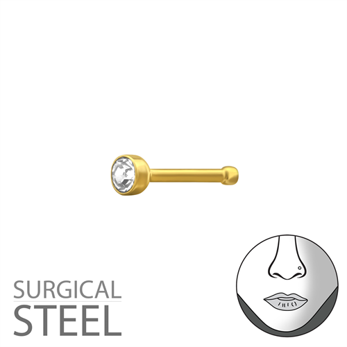 Surgical Steel Crystal Nose Stud