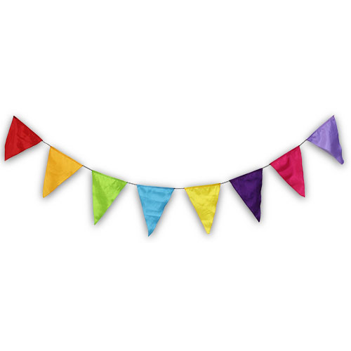 Bright Triangle Bunting 2M