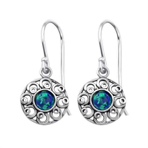 Opal Flower Earrings