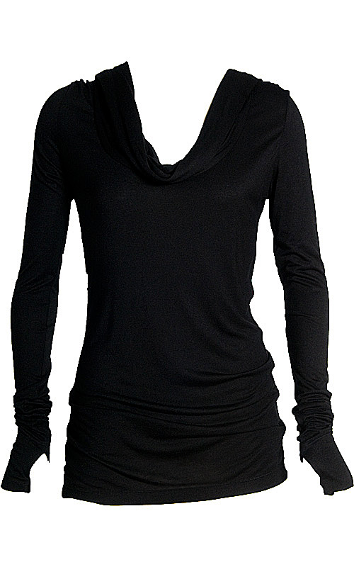 f15f556c9304 Hooded Cowl Neck - Mariposa : Womens Clothing-Long Sleeve Tops ...